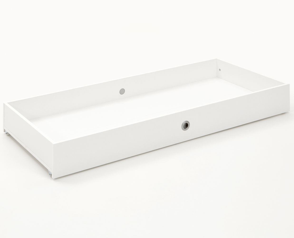 Arthur Berndt 'Thilo' Bettschubkasten auf Rollen für Kinderbett 70 x 140 cm Weiß Bild 1