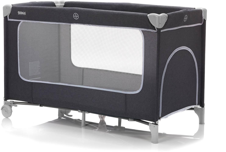 Fillikid Reisebett 60x120 cm mit Komfortmatratze, dunkelgrau melange Bild 1