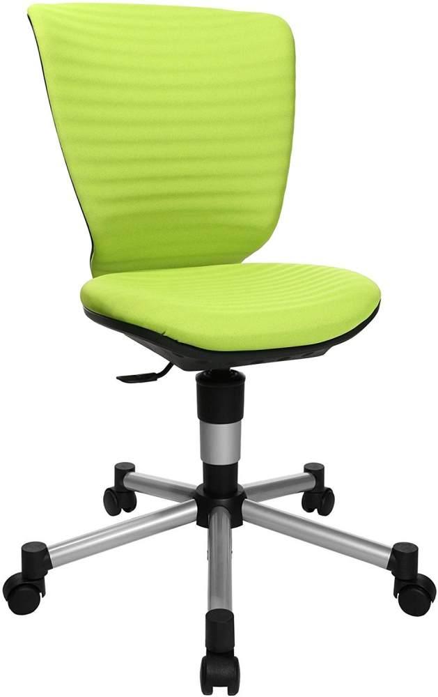 Topstar Titan Junior 3D, mitwachsender Kinderdrehstuhl, Schreibtischstuhl für Kinder & Jugendlinche, Stoff, grün, 45 x 45 x 100 cm Bild 1