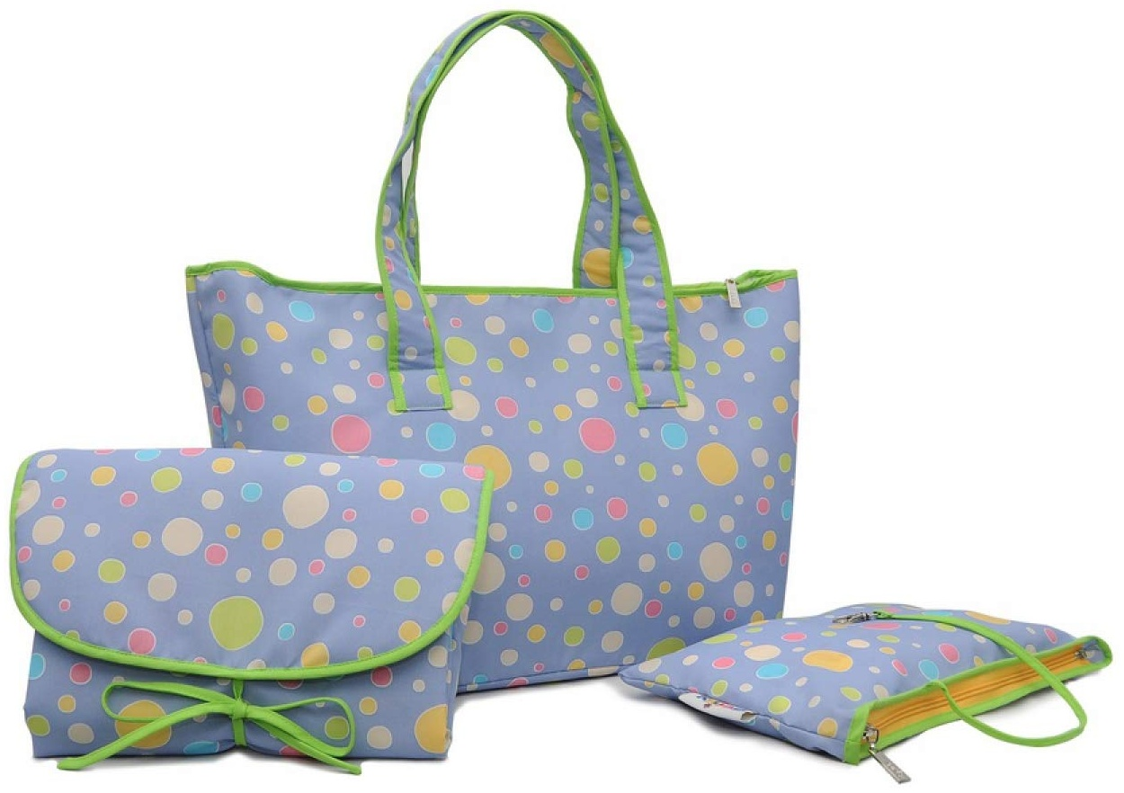 Belily World Spots 'n' Dots Wickeltasche Set, Shopper Bag Bild 1