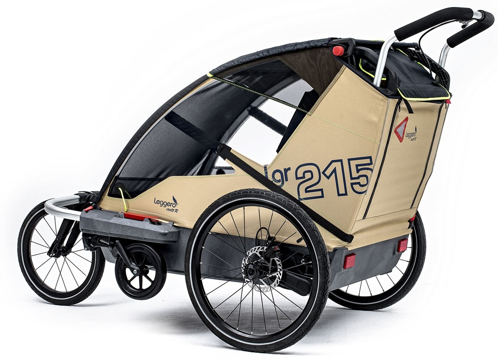 Leggero 'Vento R Sport' Fahrradanhänger Surf, 2-Sitzer inkl. Scheibenbremse, Jogger- & Buggyset Bild 1