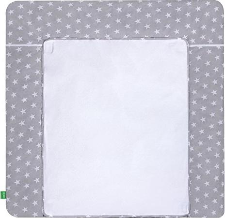 LULANDO Wickelauflage White Stars/grey 75 x 85 cm, weiß/grau Bild 1