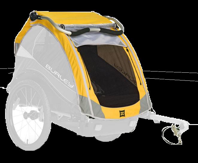 Verdeck für Burley D'lite, Cub & Encore - gelb - Fahrradanhänger ab 2013 - 2018 Bild 1