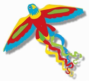 Mifu Spielwaren - Flugdrachen Papagei - ca. 52 x 122 cm Bild 1