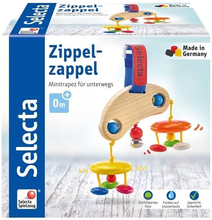 Selecta 61043 Zippelzappel, Minitrapez und Babyspielzeug, 16cm Bild 1