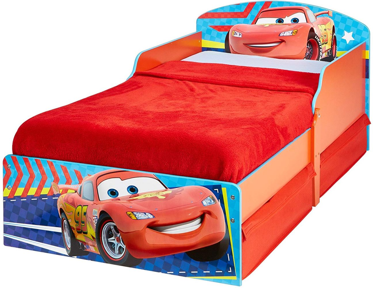 Worlds Apart Disney Cars - Kinderbett mit Stauraum 70x140 Bild 1