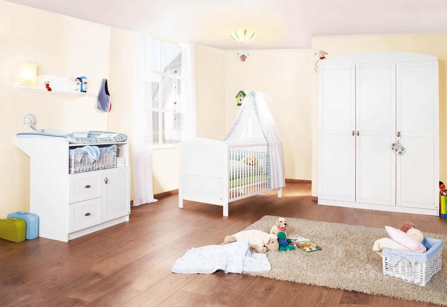 Pinolino 'Laura' 3-tlg. Babyzimmer-Set weiß, 3-türig Bild 1