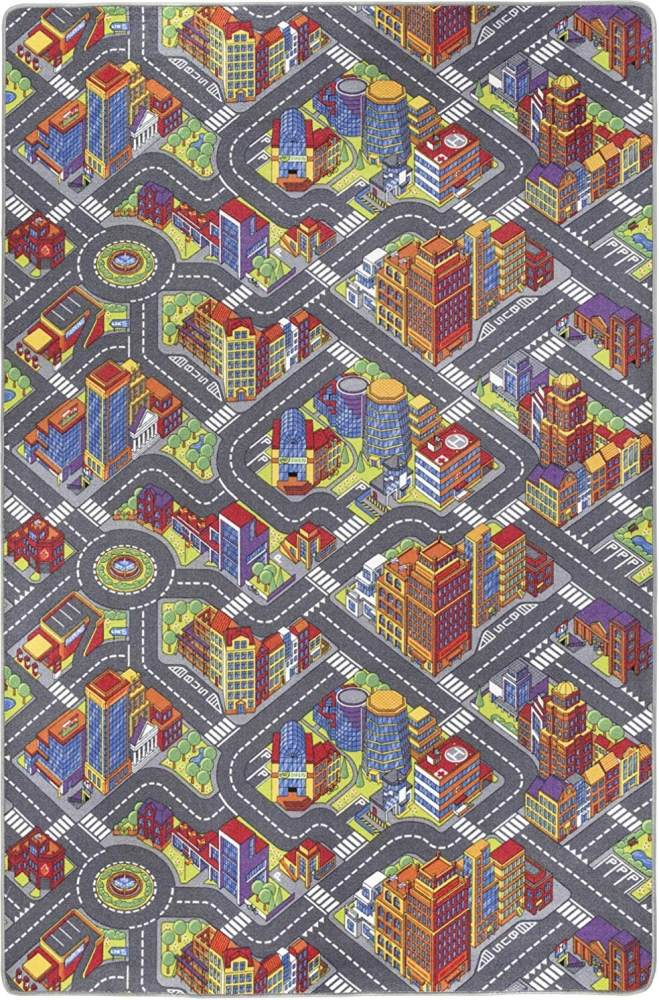 Misento 'Big City' Kinderteppich 200x300 cm Bild 1