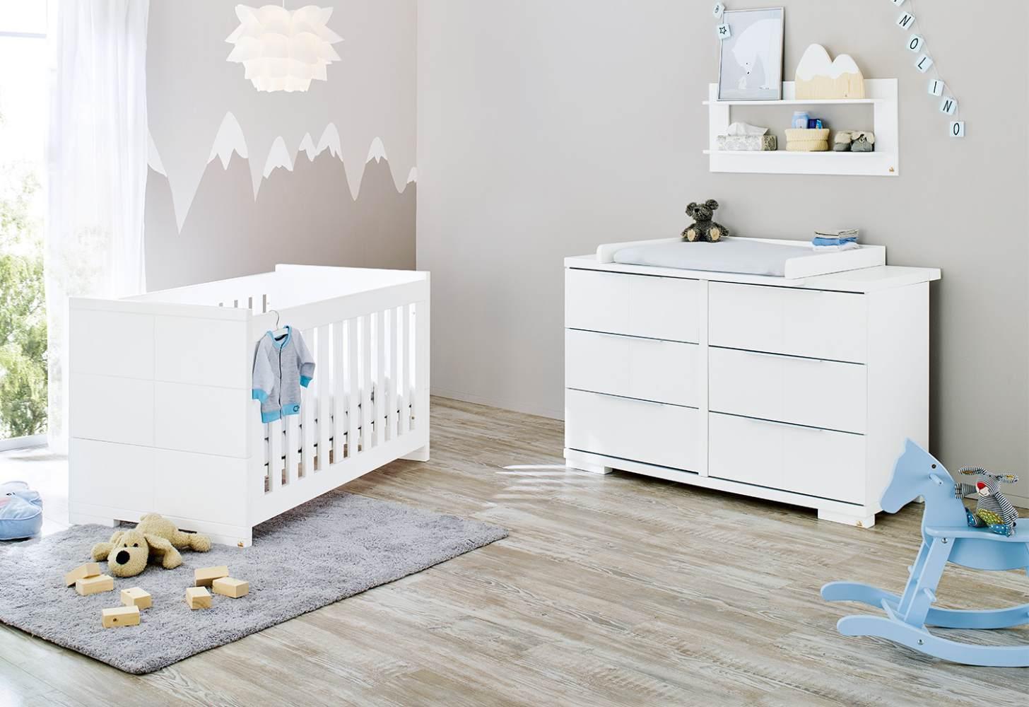 Pinolino 'Polar' 2-tlg. Babyzimmer-Set weiß, breit Bild 1