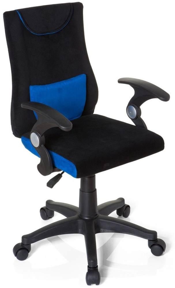 hjh OFFICE 670470 Kinderdrehstuhl Bürostuhl KIDDY PRO AL blau, ganz besonders ideal für Schulanfänger, kindgerechte Ausführung, ergonomischer Kinderschreibtischstuhl, Kinderbürostuhl höhenverstellbar Bild 1