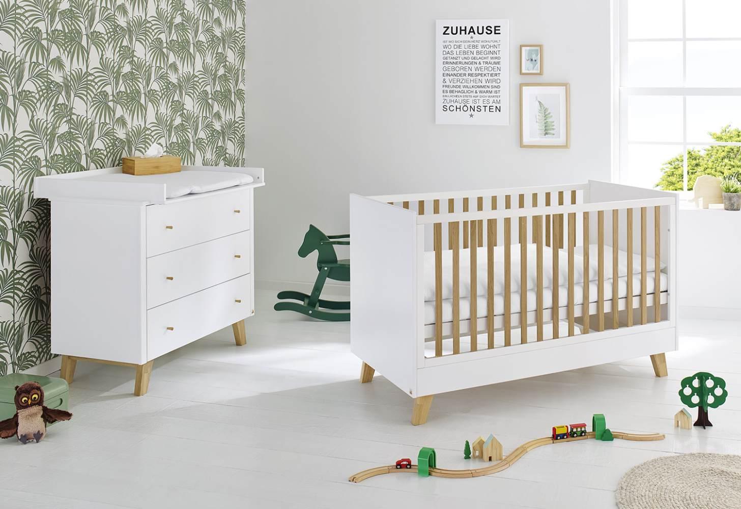 Pinolino 'Pan' 2-tlg. Babyzimmer-Set weiß Bild 1