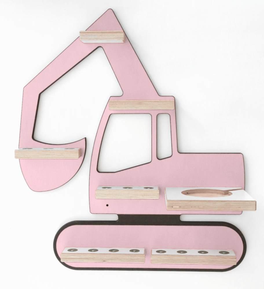 Schreinerei Linden 'Bagger' Tonie Regal rosa Bild 1