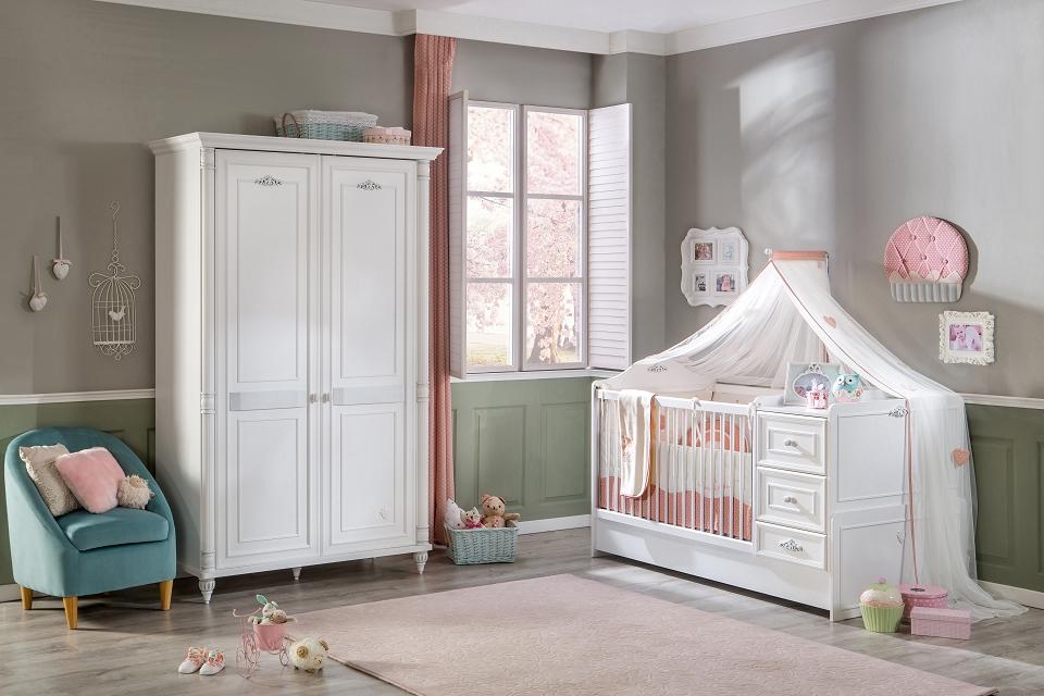 Cilek ROMANTIC BABY 5 Babyzimmer Kinderzimmer Set Komplettset Spielzimmer Weiß Bild 1