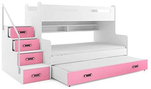 Interbeds 'MAX 3' Etagenbett weiß/rosa Bild 1