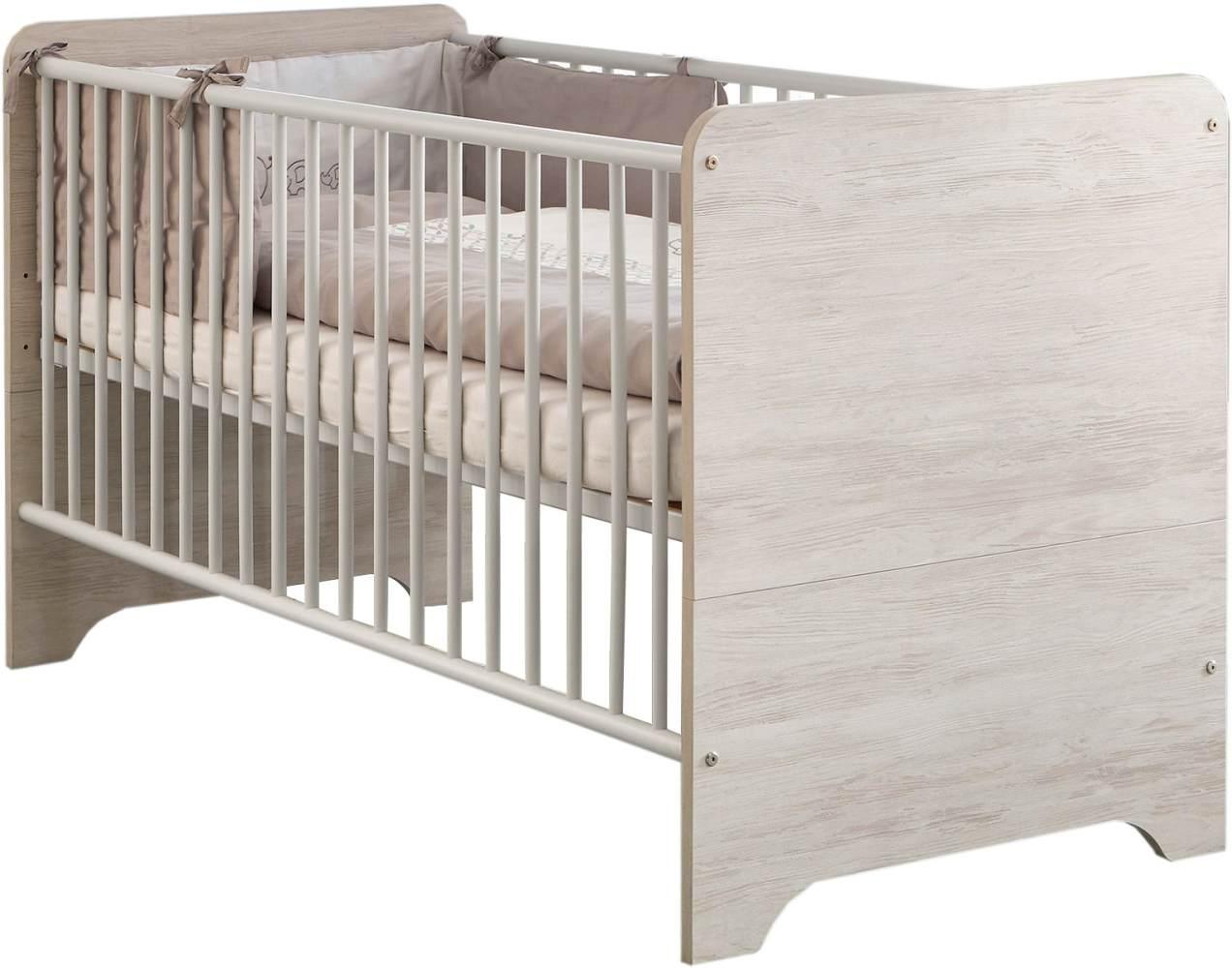 Arthur Berndt 'Leon' Kinderbett 70 x 140 cm inkl. Lattenrost 4-fach höhenverstellbar Light Wood Bild 1