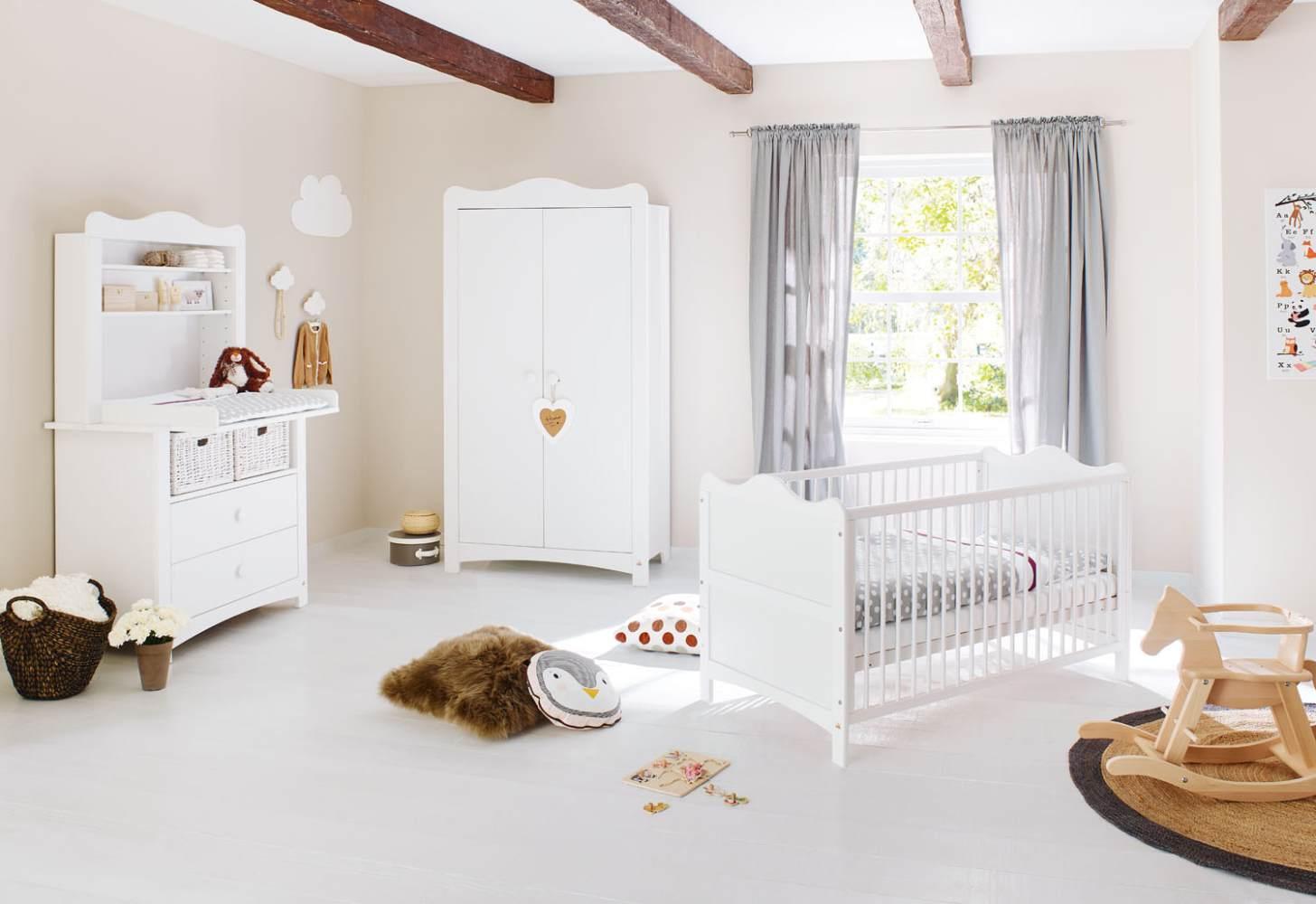 Pinolino 'Florentina' 3-tlg. Babyzimmer-Set weiß, inkl. Regalaufsatz Bild 1