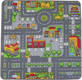 Spielteppich City - Maße: 100 x 100 cm Bild 1