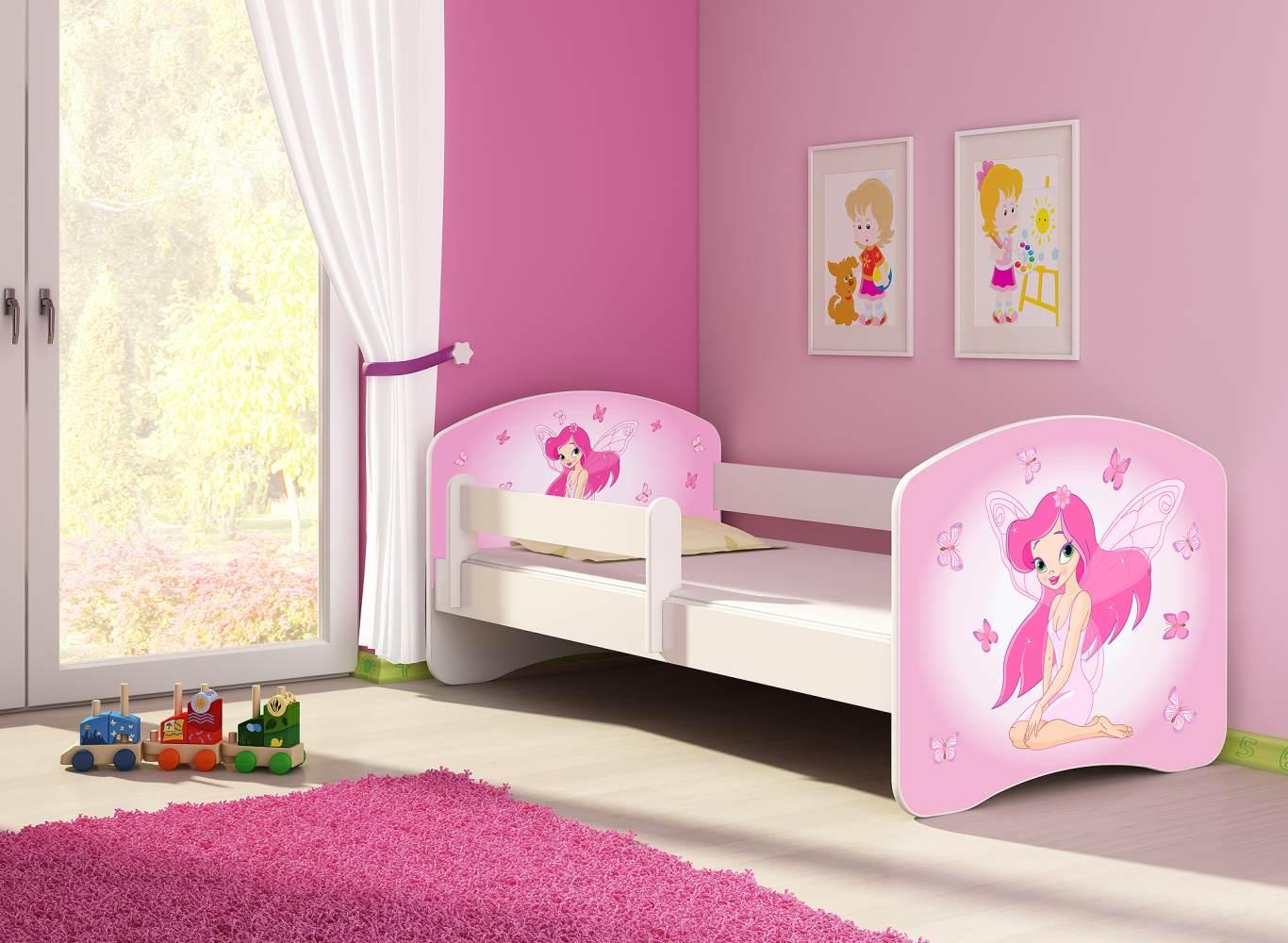 Clamaro 'Fantasia' Kinderbett 'Pink Fairy' 80 x 160 cm inkl. Rausfallschutz, Matratze und Lattenrost Bild 1