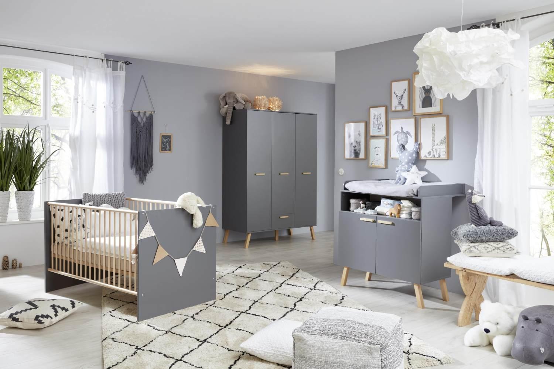 Trendteam 'Mats' 3-tlg. Babyzimmer-Set grau Bild 1