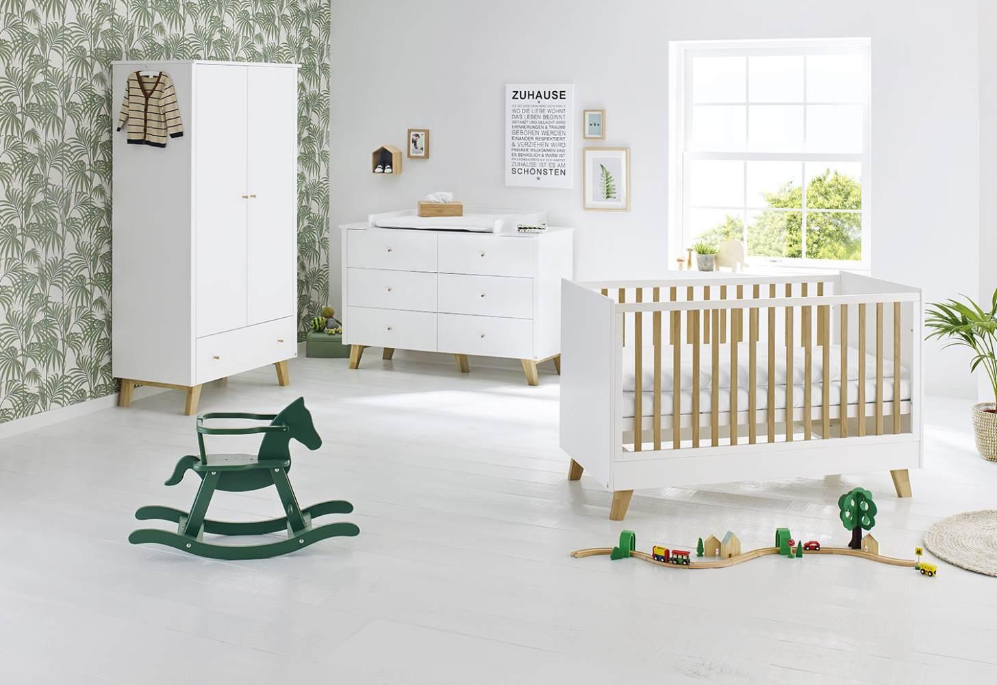 Pinolino 'Pan' 3-tlg. Babyzimmer-Set weiß, breit Bild 1