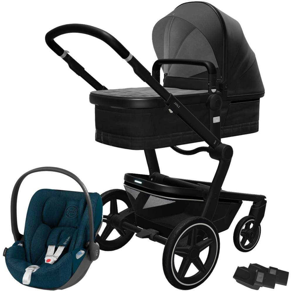 Joolz 'Day+' Kombikinderwagen Brilliant Black inkl. Cybex Cloud Z Plus Babyschale Mountain Blue Bild 1