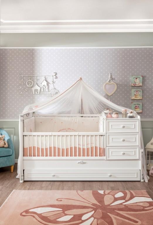 Cilek 'Romantic' Babybett inkl. Zubehör und Schublade, weiß Bild 1