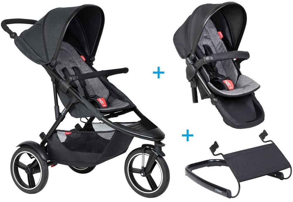 phil&teds dash Kinderwagen - 3 für 1 Vorteilspaket charcoal Bild 1