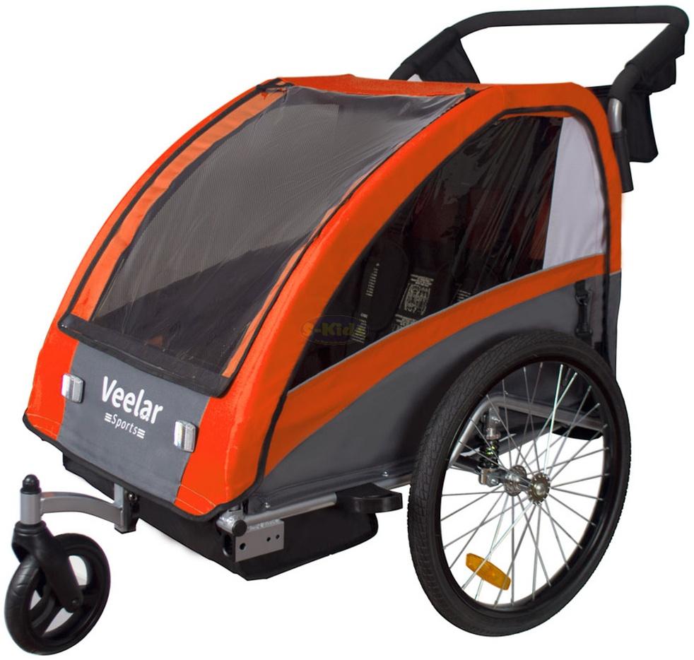 Tiggo Kinderwagen-Fahrradanhänger 2in1 Orange Bild 1