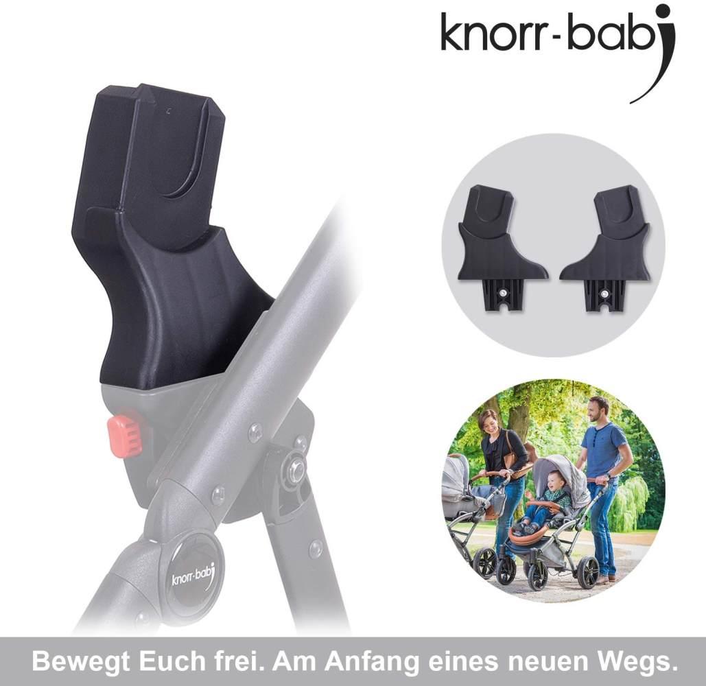 knorr-baby 35096 Adapter für Babyschale - Kombi-Kinderwagen YAP und MADEIRA, Schwarz Bild 1