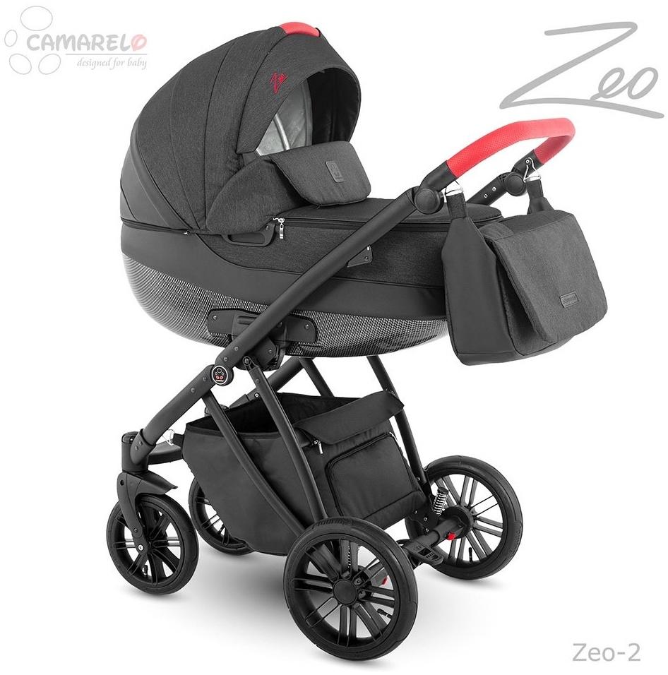 Camarelo Zeo - 3in1 Kombikinderwagen - Zeo-2 schwarz/ rot Bild 1
