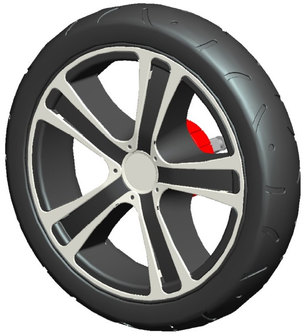 Gesslein F6 Air+ Hinterrad 12 Zoll weiß Bild 1