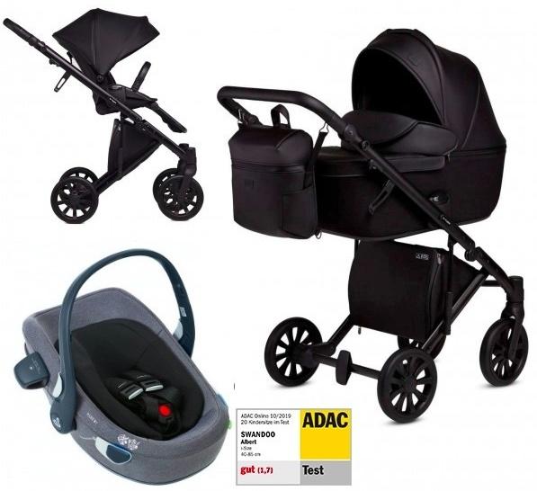 Anex 'e/type' Kombikinderwagen 4plusin1 2020 in Noir mit Swandoo Babyschale Bild 1