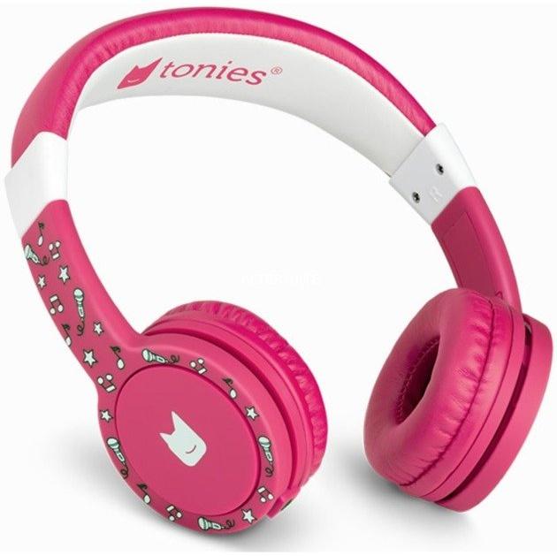 Tonies 'Tonie-Lauscher' Pink, Kinder-Kopfhörer passend zur Toniebox, Lautstärke reguliert, abnehmbares Kabel, größenverstellbar, bewegliche Ohrmuscheln Bild 1