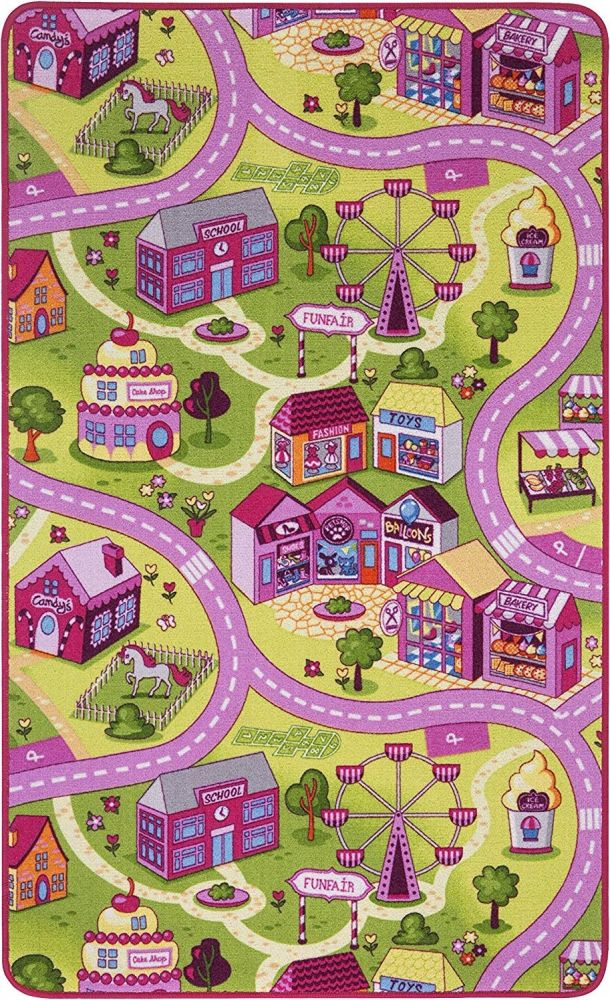 Misento 'City' Kinderteppich 100x165 cm Bild 1