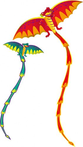 Eolo 3D Drachen Dragon sortiert - 1x Stück, zufällige Auswahl Bild 1