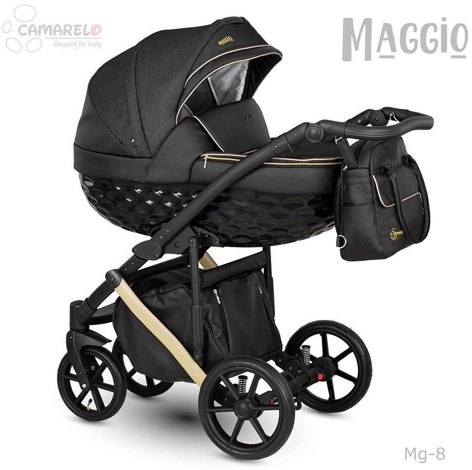 Camarelo Maggio Kombikinderwagen Mg-8 schwarz/ Gold Bild 1