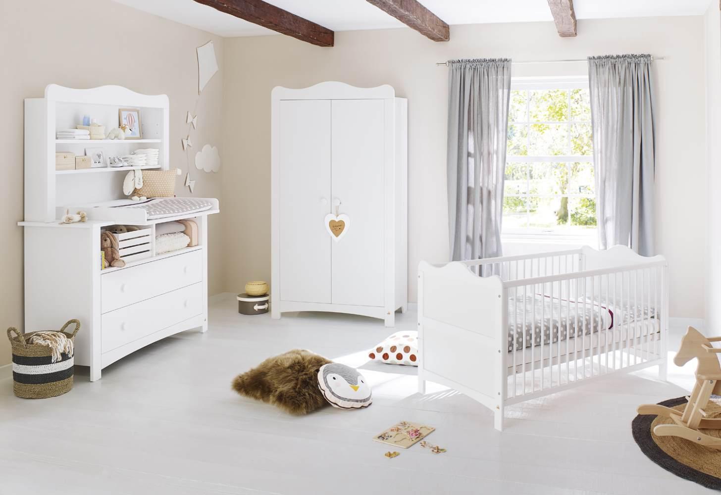 Pinolino 'Florentina' 3-tlg. Kinderzimmer-Set extrabreit, inkl. extrabreitem Regalaufsatz Bild 1