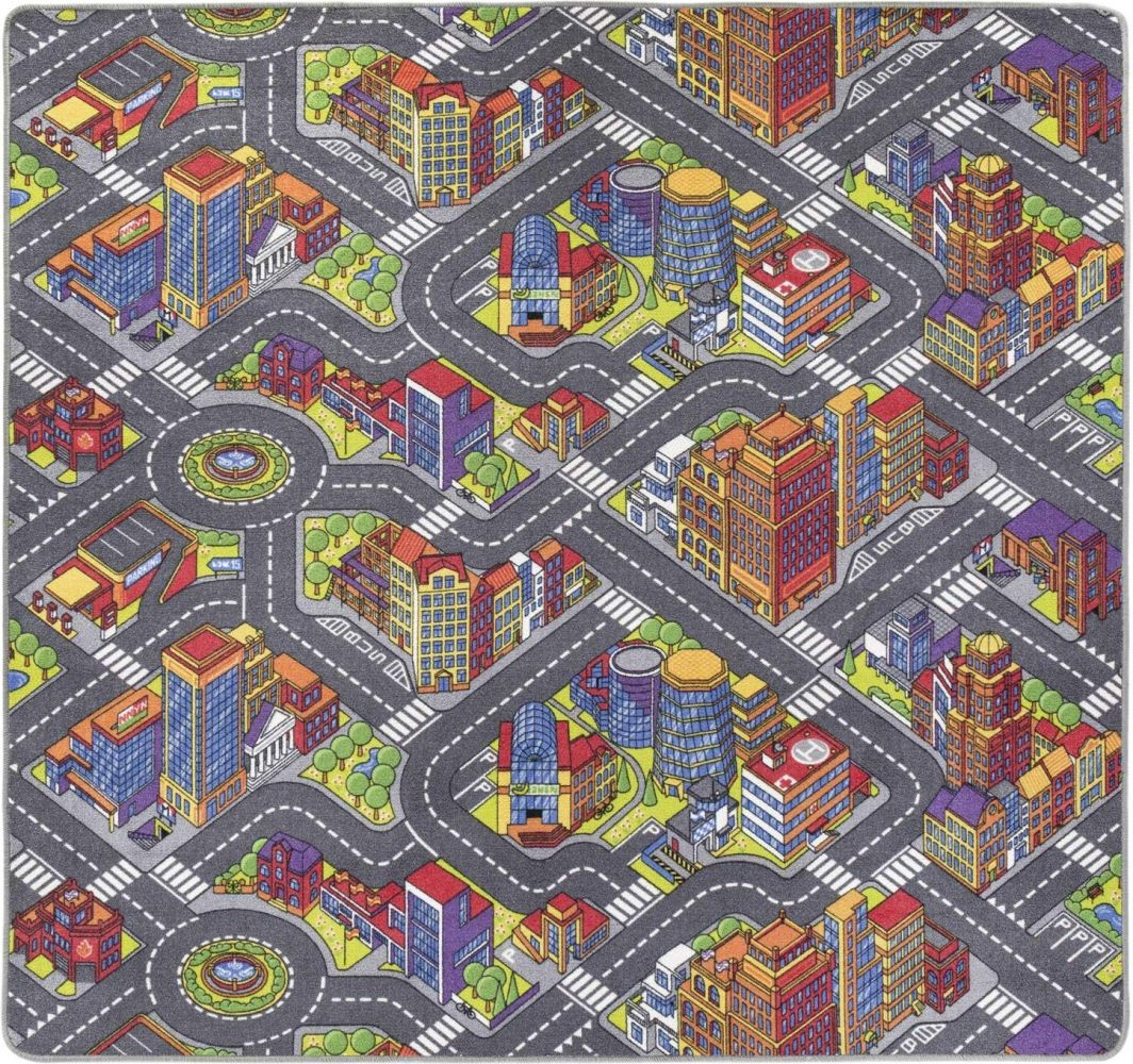 Misento 'Big City' Kinderteppich 200x200 cm Bild 1
