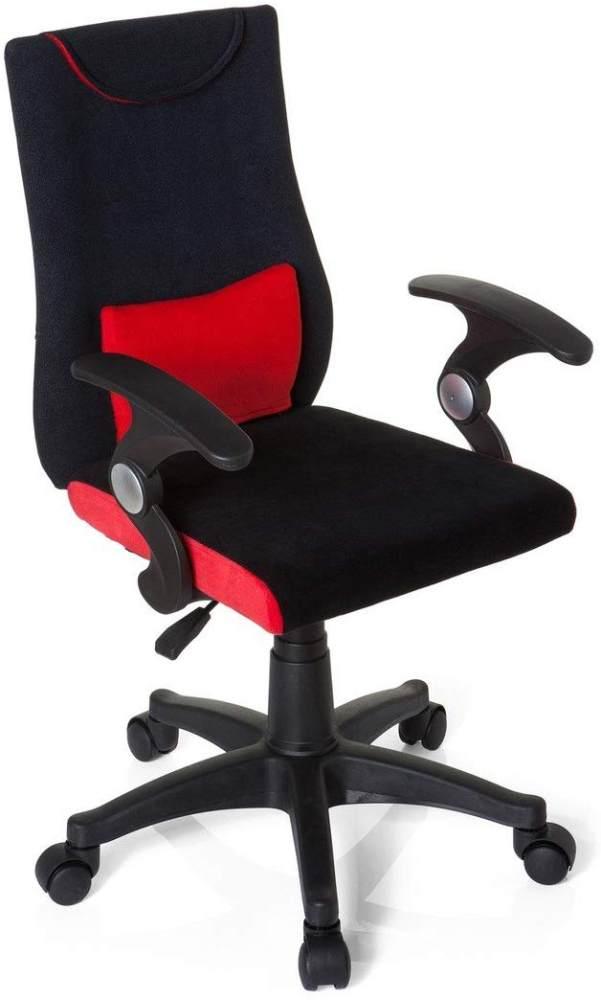 hjh OFFICE 670460 Kinderdrehstuhl Bürostuhl KIDDY PRO AL rot, ganz besonders ideal für Schulanfänger, kindgerechte Ausführung, ergonomischer Kinderschreibtischstuhl, Kinderbürostuhl höhenverstellbar Bild 1