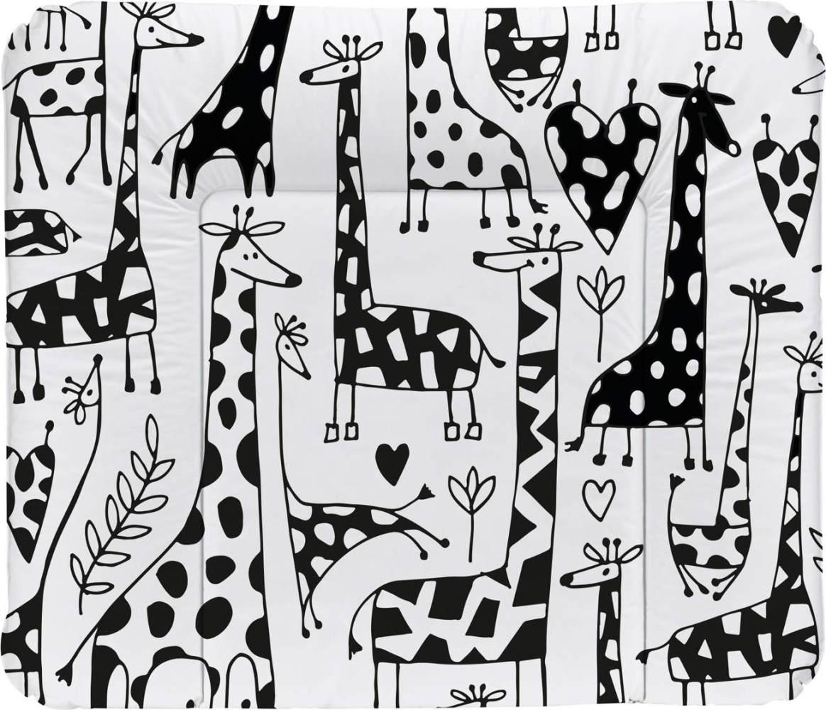 Rotho Babydesign Wickelauflage Happy Family, Ab 0 Monate, TOP, 85 x 72, Schwarz/Weiß, 20062 0001 CW Bild 1