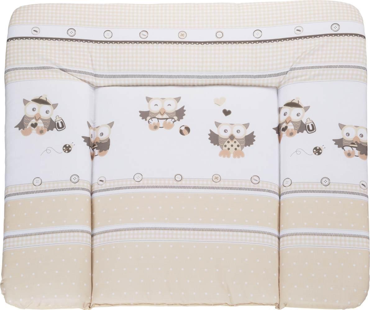 Roba 'Eulenbabys' Wickelauflage soft 75 x 85 cm beige Bild 1