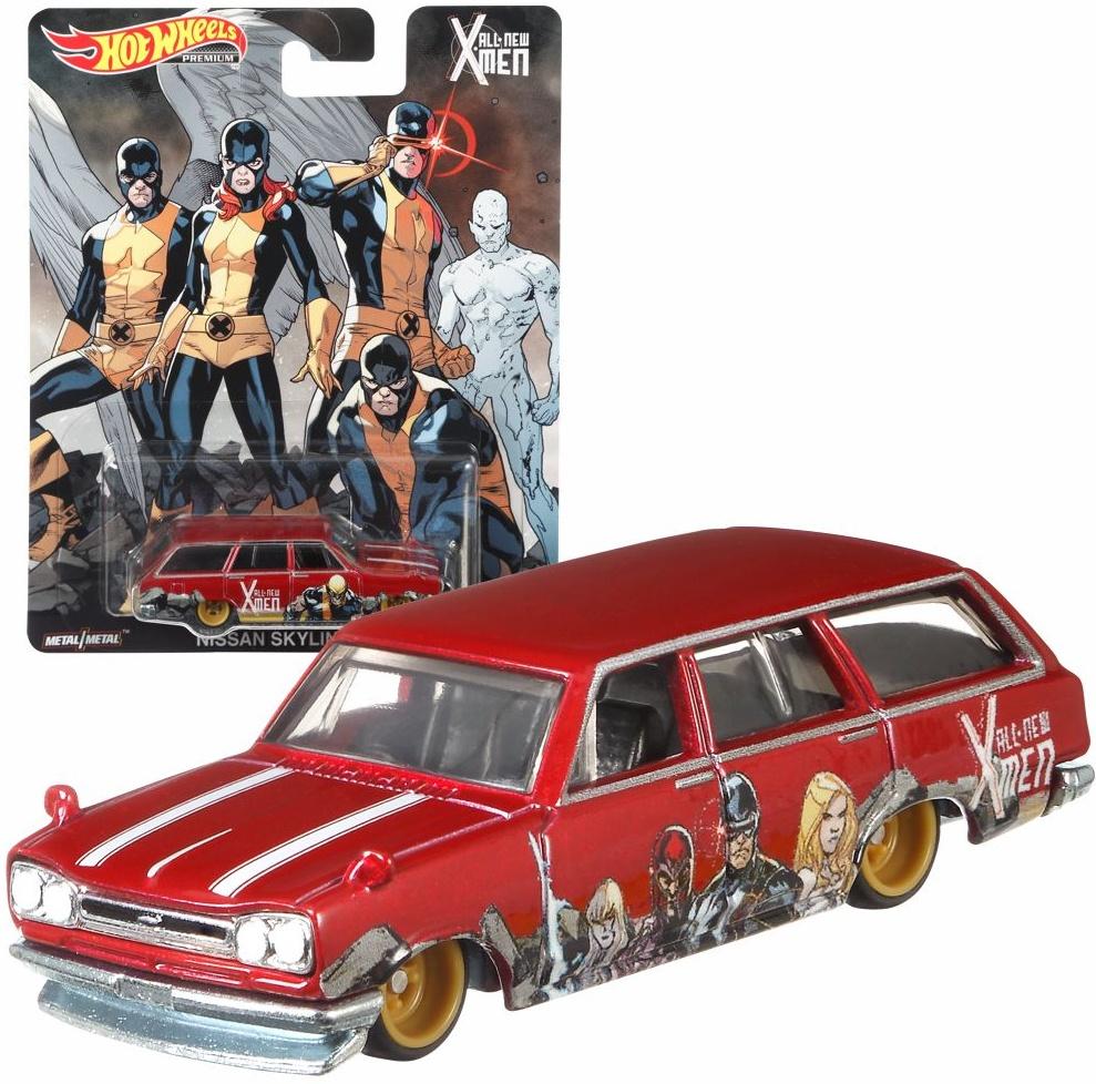Cars Mattel DLB45 - Nissan Skyline Van - Pop Culture X-Men   Hot Wheels Premium Auto Set Bild 1
