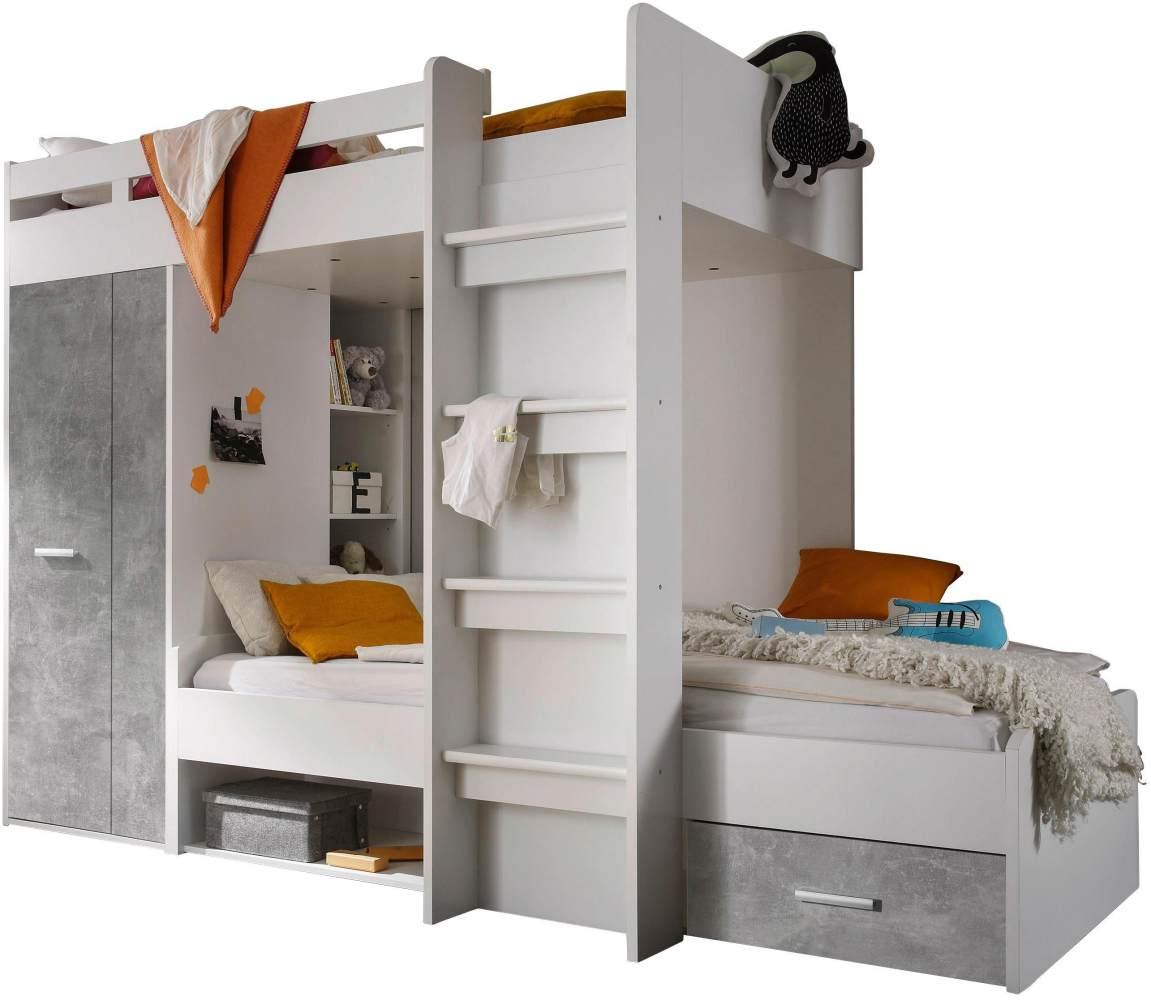 Bega 'Maxi' Funktionsbett weiß/grau Bild 1