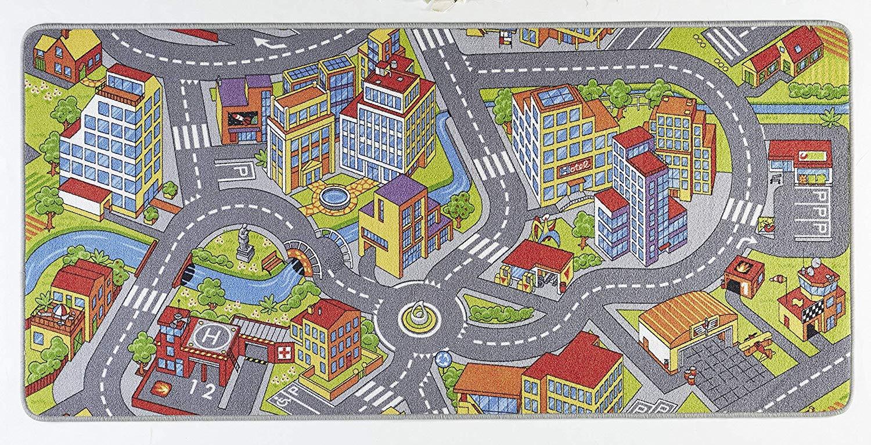 Hanse Home Spielteppich Kinderteppich Smartcity grau 160x240 cm Bild 1