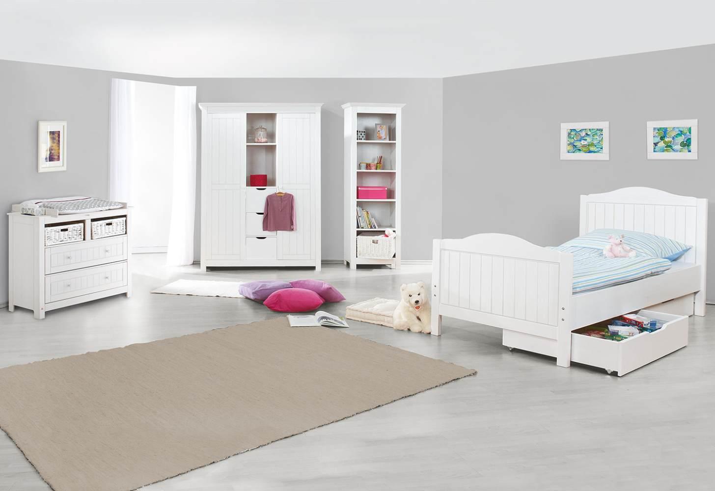 Pinolino 'Nina' 3-tlg. Kinderzimmer-Set weiß Bild 1