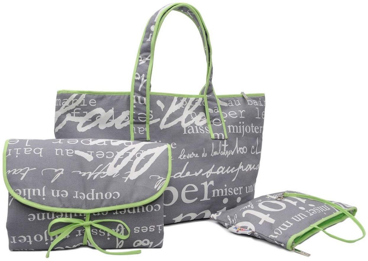 Belily World Paris Wickeltasche Set, Shopper Bag Bild 1