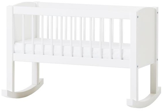 Hoppekids Wiege/Bank umbaubar zur Sitzbank, Kiefer massiv/MDF, Liegefläche 80 x 40 cm, Holz, weiß, 86 x 47 x 62 cm Bild 1