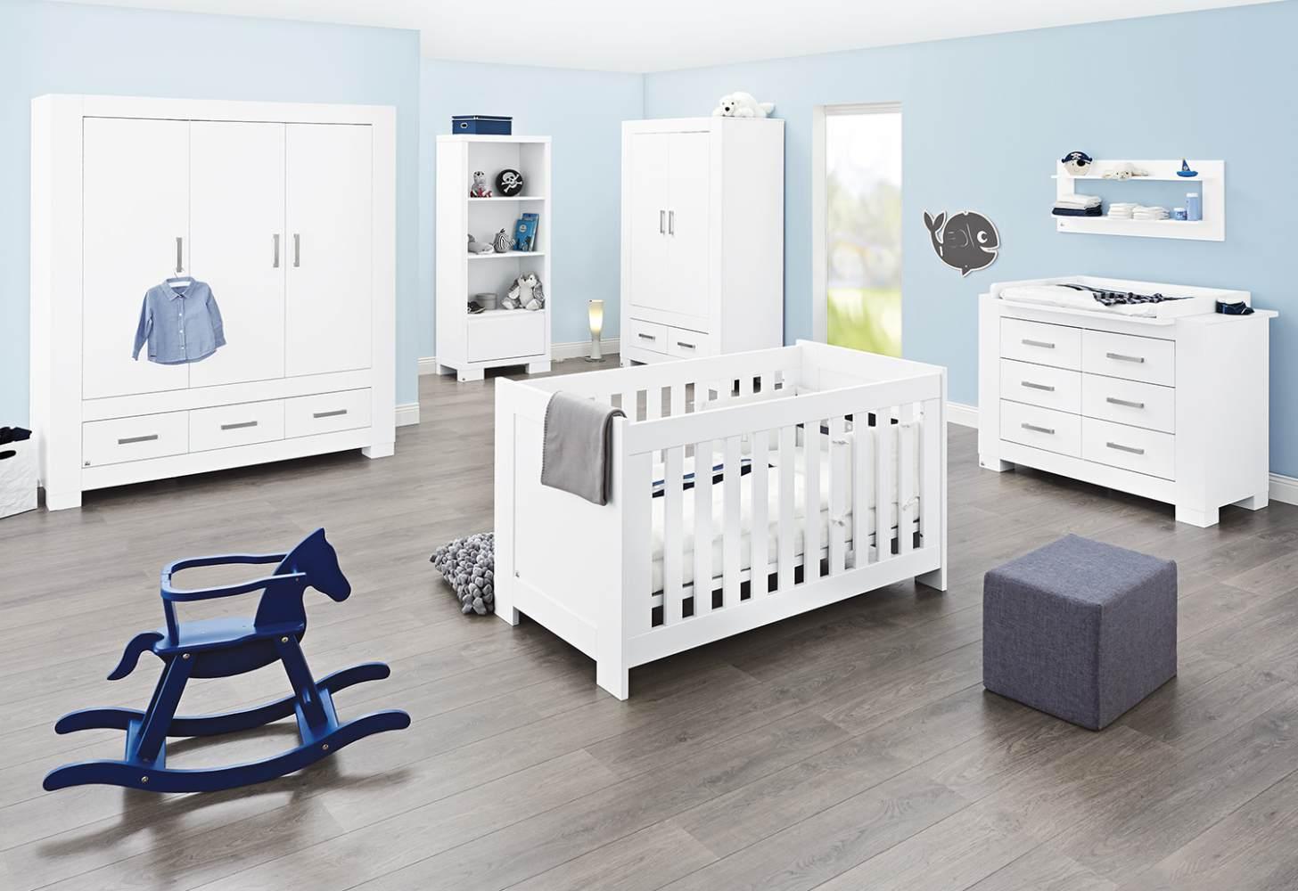 Pinolino 'Ice' 3-tlg. Babyzimmer-Set weiß, 3-türig Bild 1
