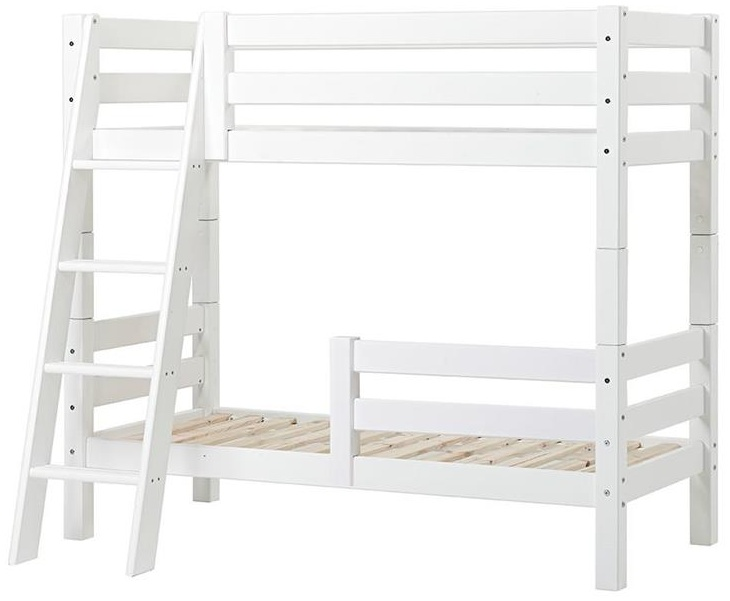 Hoppekids 'Premium' Etagenbett schräge Leiter, 70 x 160 cm, inkl. Rollroste und extra Schutzvorrichtung Bild 1