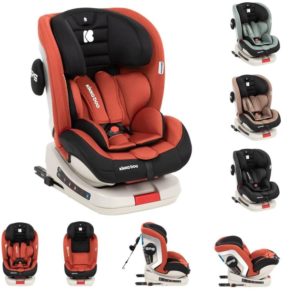 Kikkaboo Kindersitz Strong Isofix Gruppe 0+/1/2/3 (0 - 36 kg), 5-Punkt-Gurt orange Bild 1